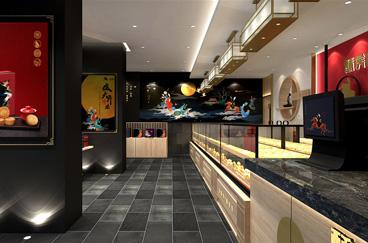 酥侯糕点品牌连锁店面空间设计