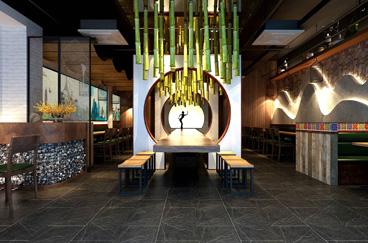 山里云米线店面空间设计